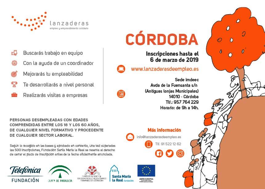 Córdoba contará con una nueva Lanzadera de Empleo para mejorar la inserción laboral de 20 personas
