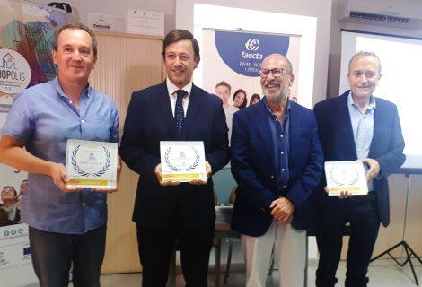 Premios Faecta al Cooperativismo para el Centro Cordobés de Enseñanzas Medias, Hotel Madinat e Imdeec