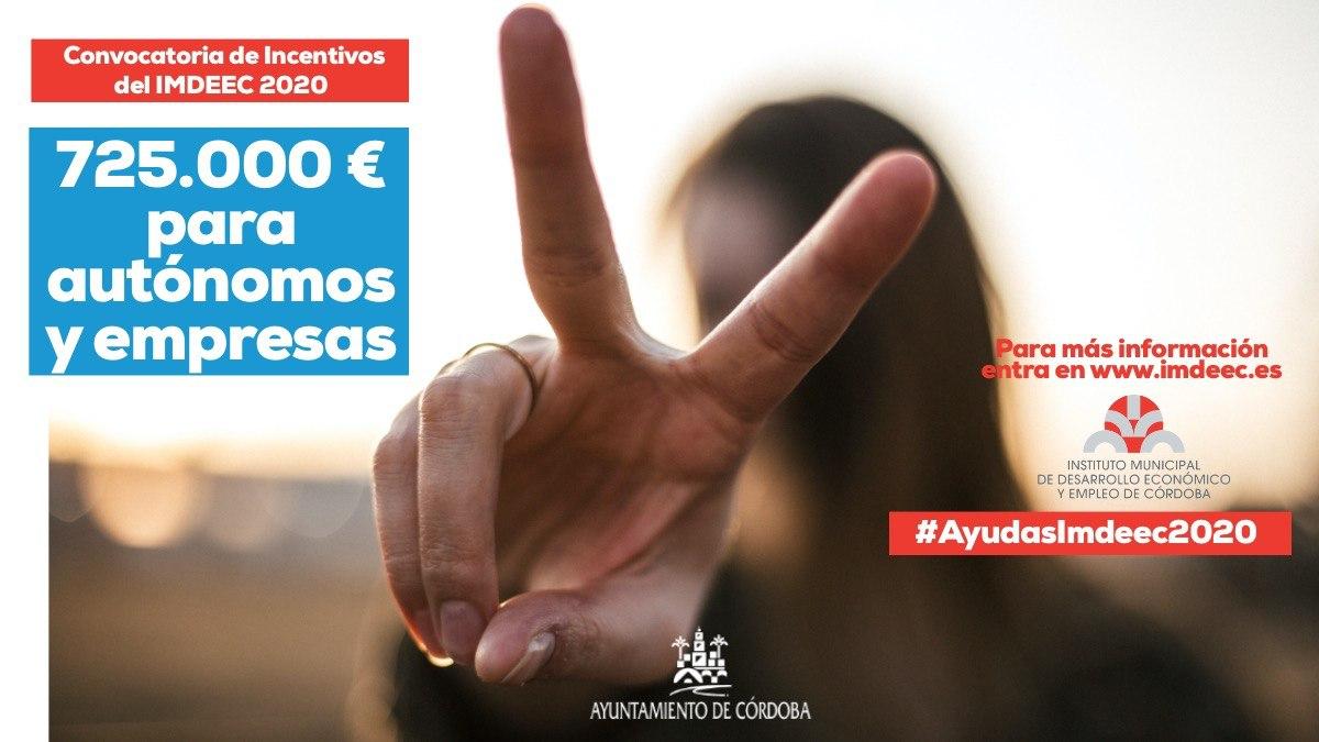El Imdeec lanza tres convocatorias de ayudas para autónomos y empresas de Córdoba por 725.000 euros