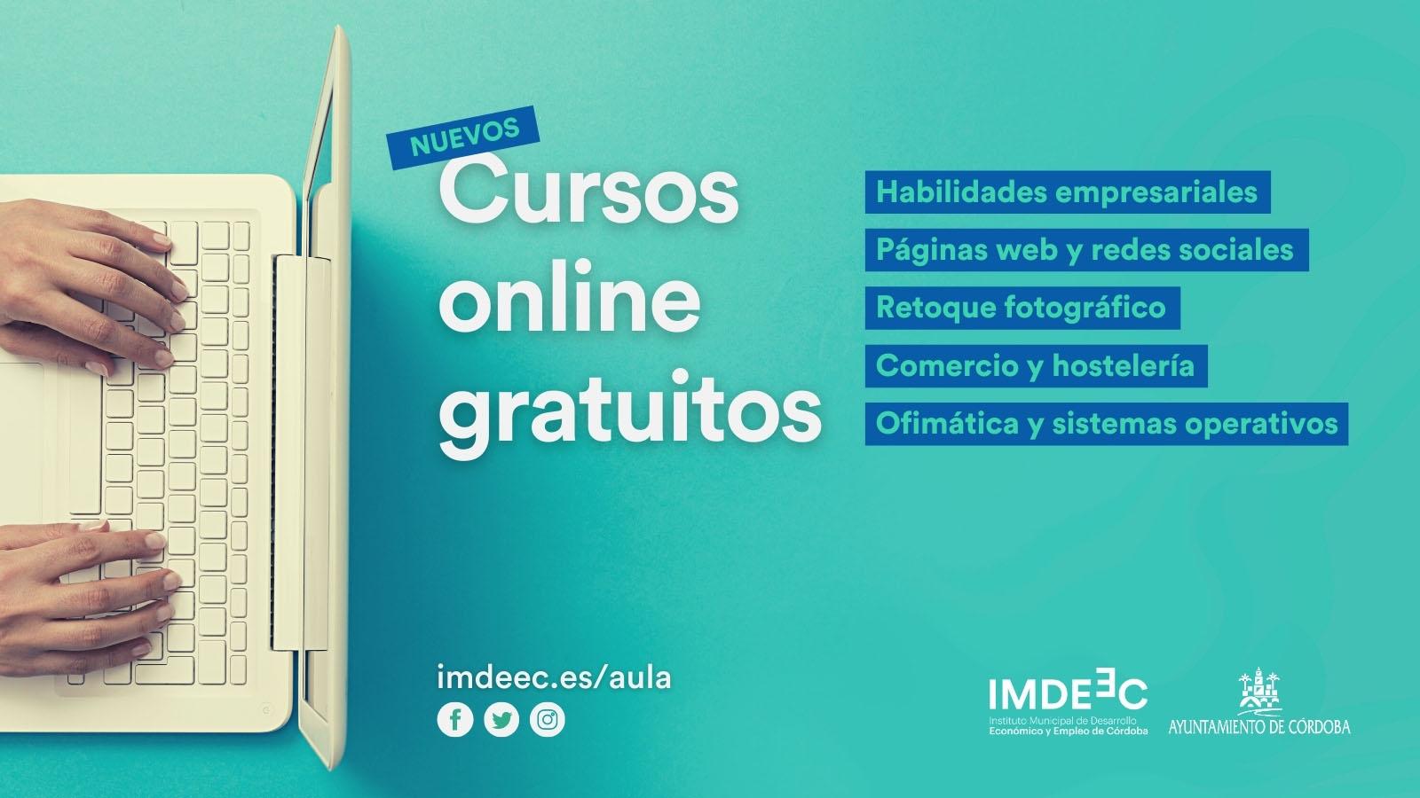 El IMDEEC amplía su oferta formativa con cuarenta cursos online gratuitos sobre comercio o Internet